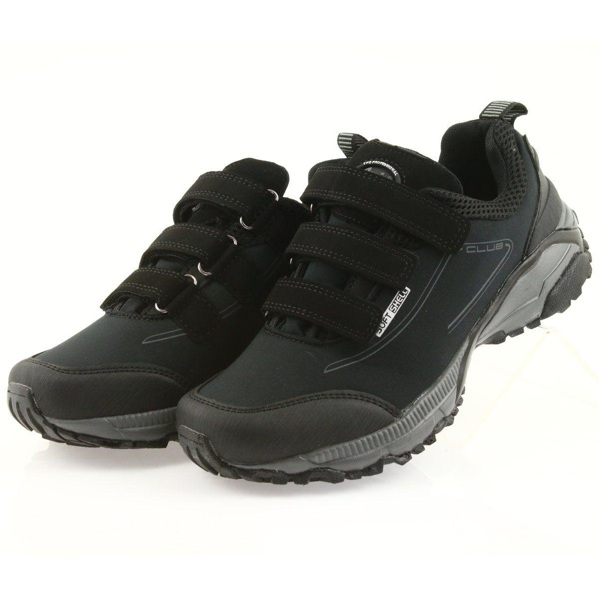 American Club Adi Buty Damskie Sportowe Na Rzepy American Wodoodporne Softhell Wt08 19 Czarne Sport Shoes Women Club Shoes Trekking Shoes