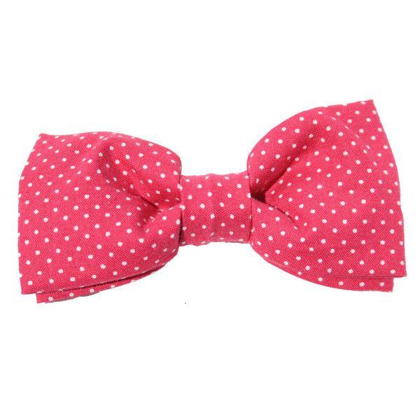 Classic Hound Collar Co.   Pin Dot Rose Bow Tie #dogbowtie #dapperdog