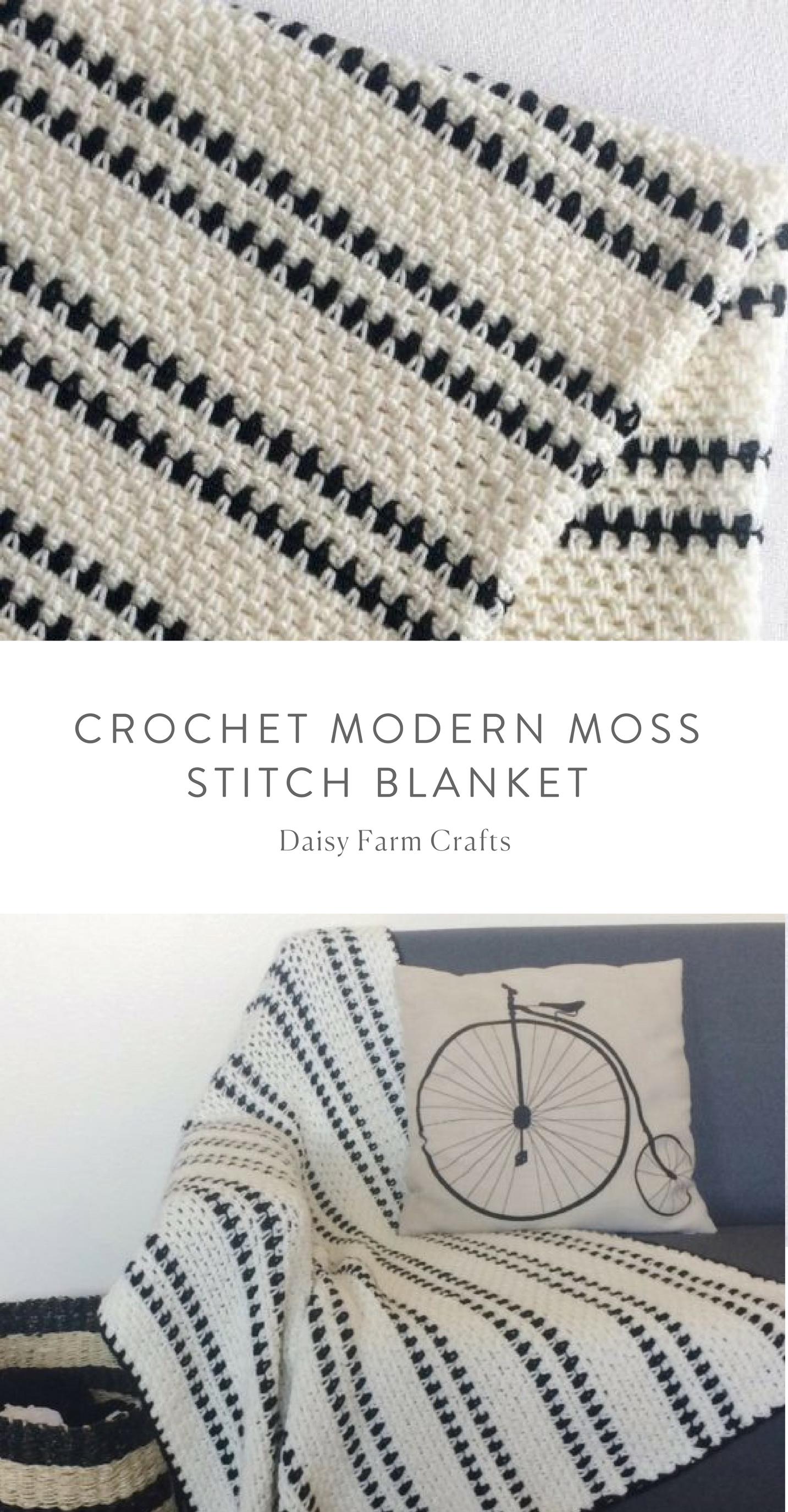 Crochet Modern Moss Stitch Blanket | Baby Crochet | Ganchillo ...