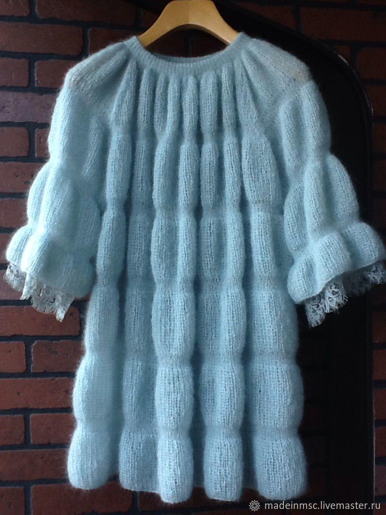 7a986c1ef1d Кофты и свитера ручной работы. Ярмарка Мастеров - ручная работа. Купить  КОФТОЧКА-ТУНИКА кружево Шантильи мохер шелк. Handmade.