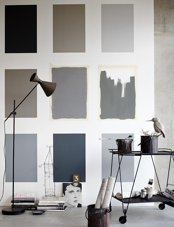 Wohnen mit Farben - Trendfarbe Grau Grau, Wandfarbe und Schöner - Wohnzimmer Design Wandfarbe Grau
