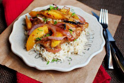 Gingery Chicken with Peaches