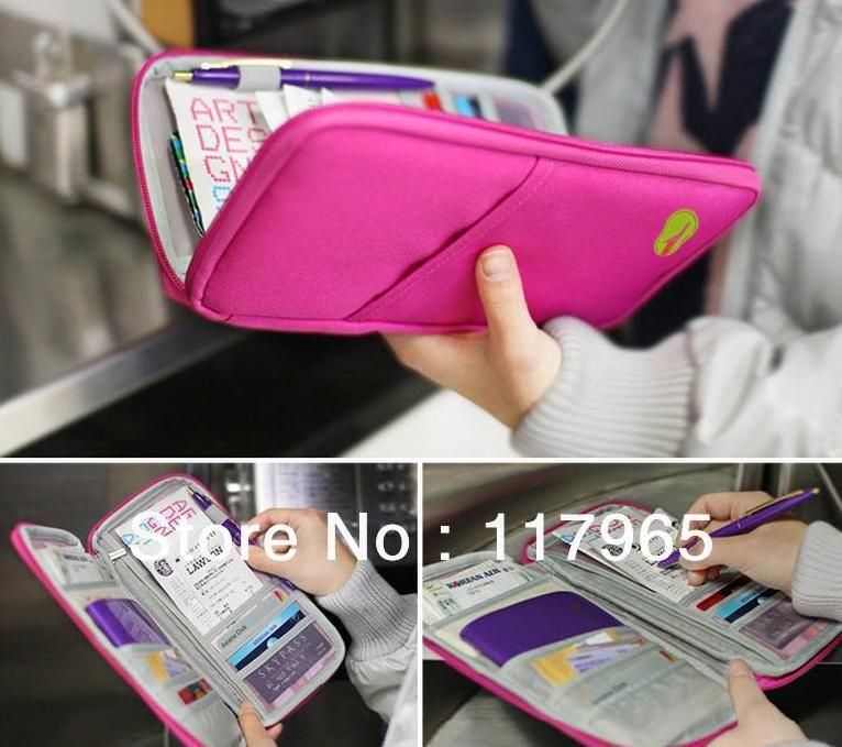 Family Travel Passport ID Document Holder Organiser Card Bag Wallet Handbag CB