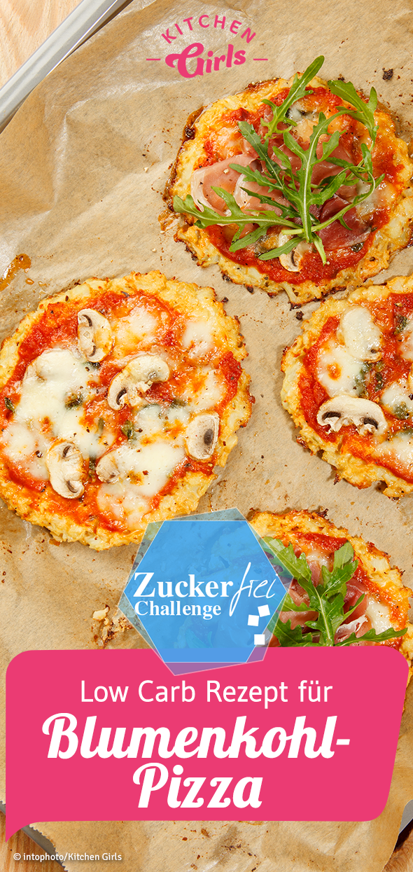 Photo of Low carb recipe for cauliflower pizza sugar free