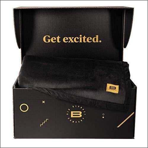 Royal Black Polyester Spandex Throw Blanket - 10' x 10'
