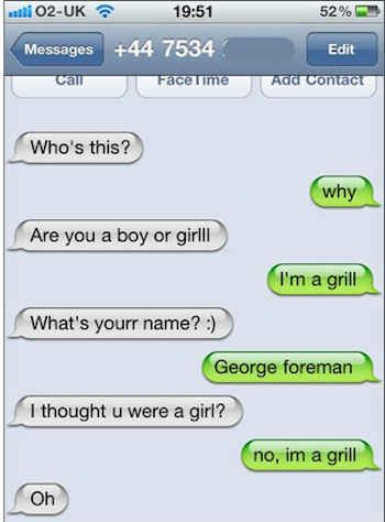 Funny Text Responses To How Are You : funny, responses, Grill:, Funny, Wrong, Number, Texts,, Texts, Jokes,, Messages