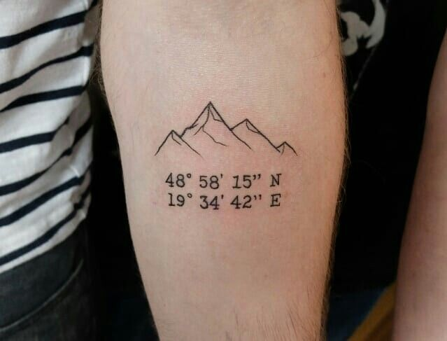 Photo of Berg und Koordinaten Tattoo! @cosmobotic auf Instagram
