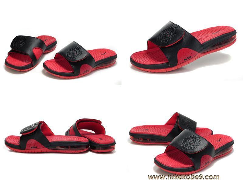 Discounts Black red 487332 010 Nike Air Lebron Slide