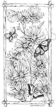Northwoods Rubber Stamp Wood Asters