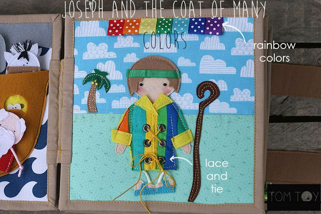 bible quiet book church busy book handmade fabric bible story joseph and the coat - Coat Of Many Colors Book