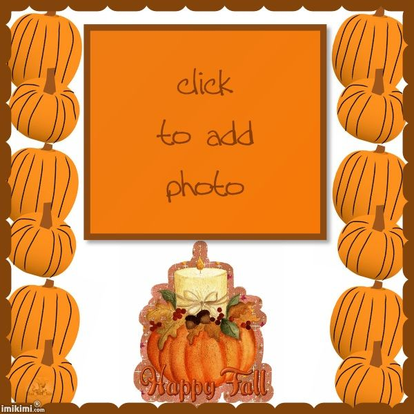 Beautiful Happy Fall Pumpkin Picture Frames Thanksgiving Frames