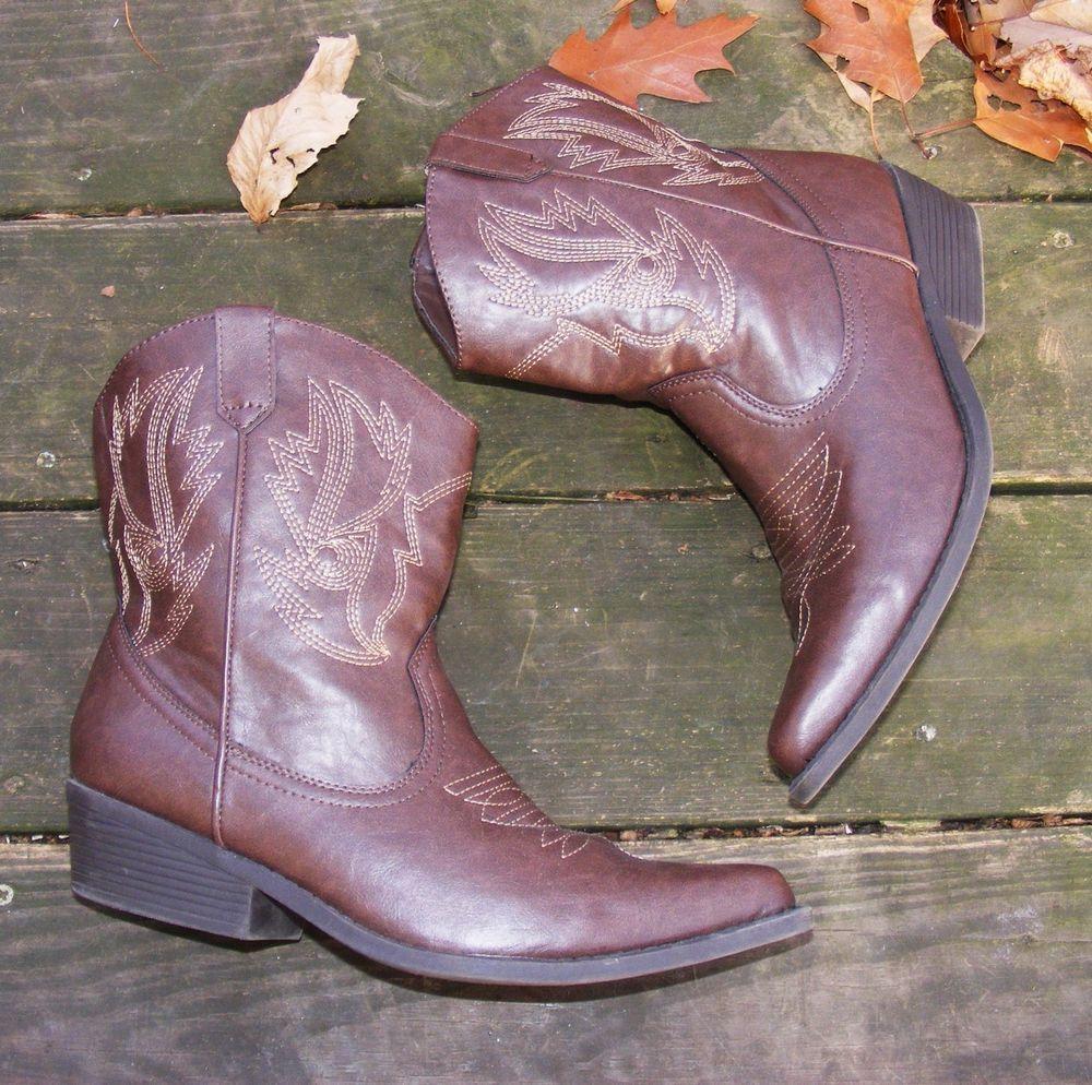 f2e3d0dfc5e Details about SO Kohl's RN#73277 women elmira brown ankle boots all ...