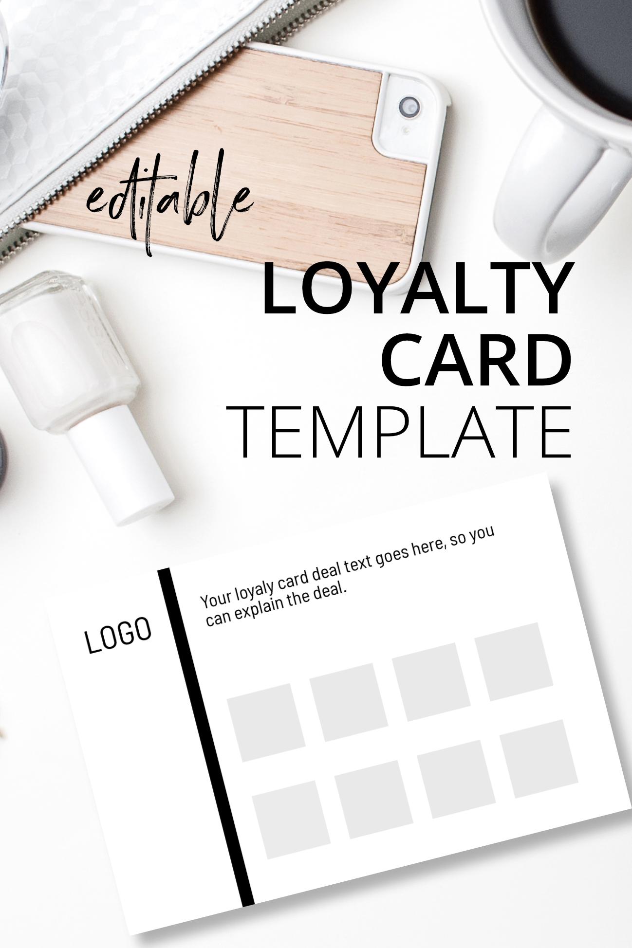 Loyalty Card Design Template Loyalty Card Template Loyalty Card Design Making Money On Etsy