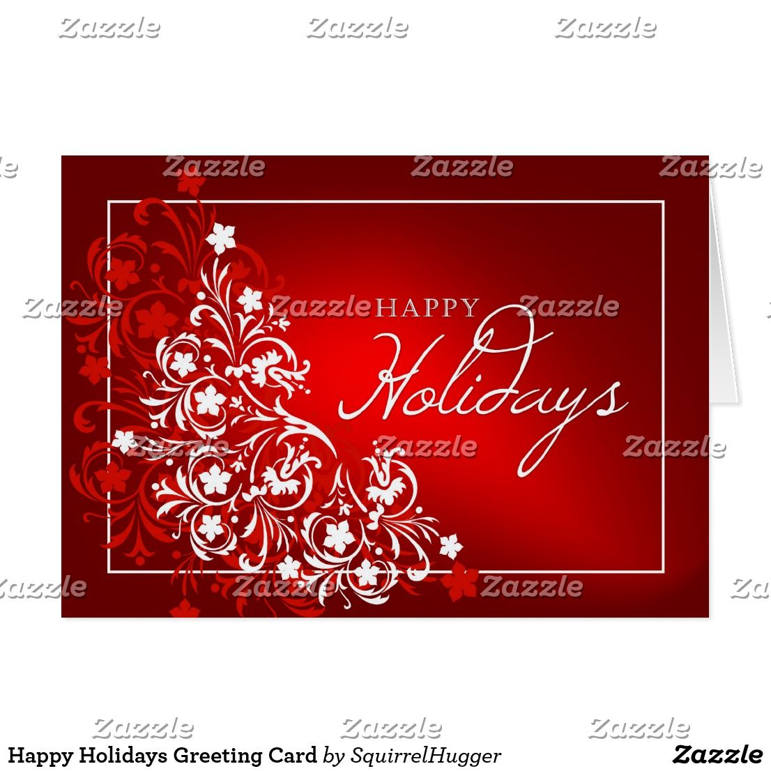 Happy holidays greeting card abstract holiday floral design on happy holidays greeting card abstract holiday floral design on gradient red background perfect for business kristyandbryce Image collections