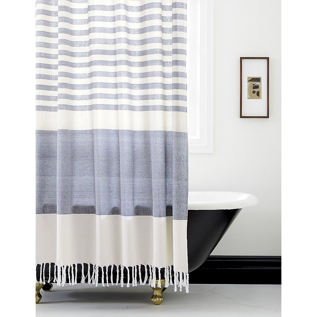 Shop CB2 For Modern Unique Shower Curtains Designed To Suit