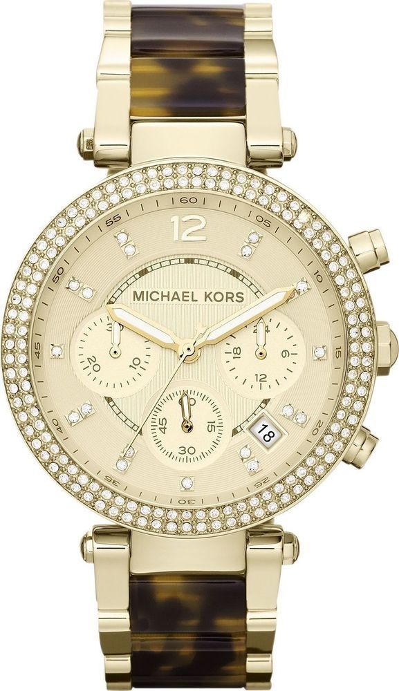 MICHAEL KORS Uhr Damenuhr Edelstahl Armbanduhr Goldfarbe Chronograph MK  5688 NEU in Uhren   Schmuck aca961f56e