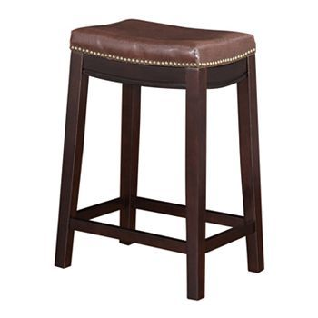 Linon Allure Counter Stool Brown Counter Stool Stools
