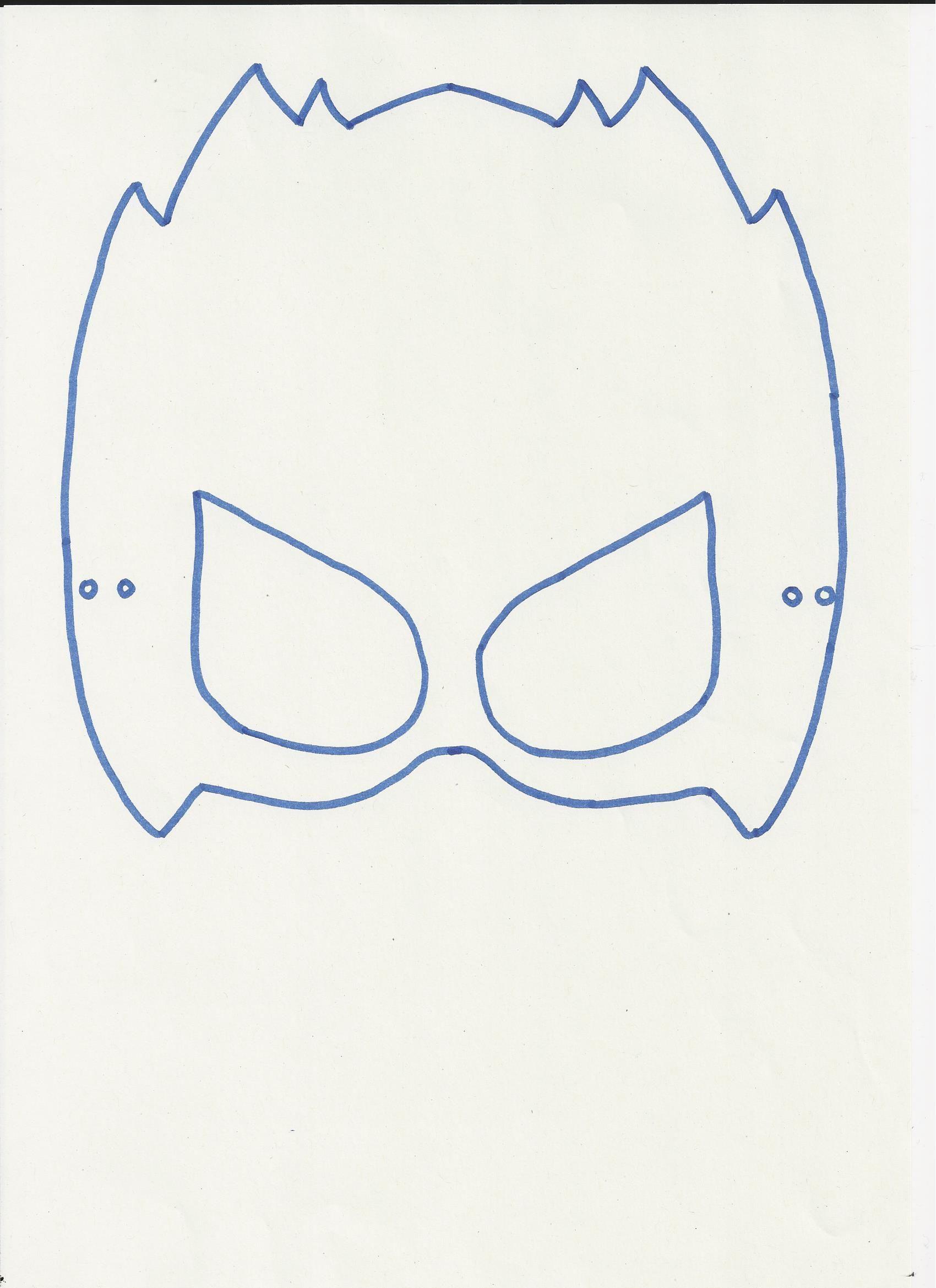 Masker Van Mega Toby Om Te Kleuren Schilderen Kleuren Masker Mega Knutselen Carnaval Themafeestjes Superheldenfeest