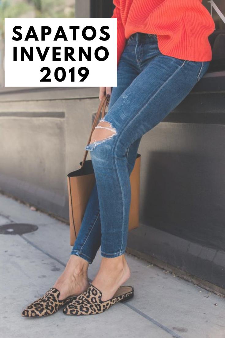 66a0f55b3 5 Sapatos inverno 2019: tendências outono/inverno 2019. sapatos para inverno.  looks