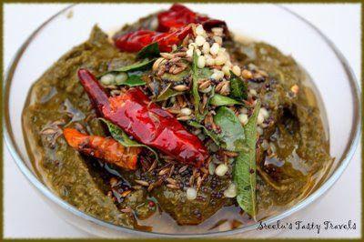 Sreelus Tasty Travels: Gongura Pachadi/ Sorrel Leaves Chutney