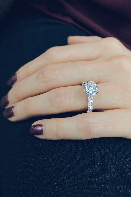 Princess Five Diamond Engagement Ring Engagement Rings Sale Emerald Engagement Ring Diamond Accent Engagement Rings