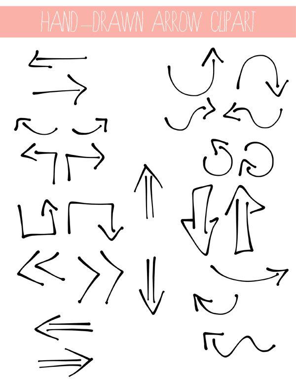 Lemon Jitters: Clippies: Hand-Drawn Arrows | BLOG - Design