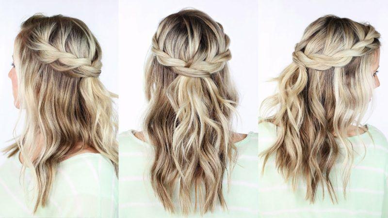 Flechtfrisuren Halboffen Faszinierende Ideen Zum Nachmachen Langhaarfrisuren Coole Frisuren Geflochtene Frisuren