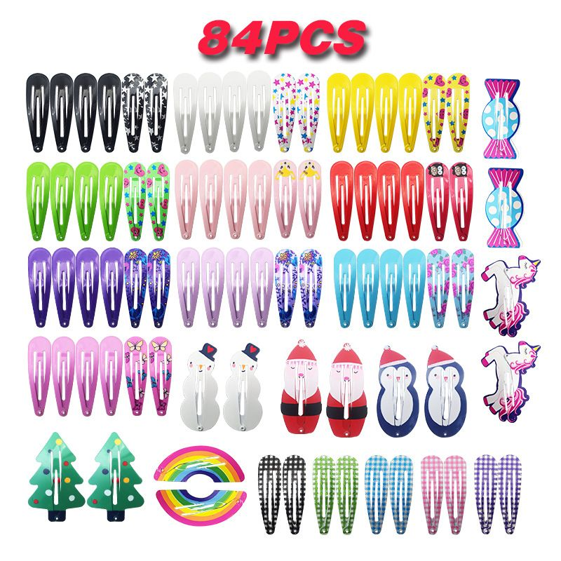 Candy Colors Girls Hair Clips Metal Barrettes Children