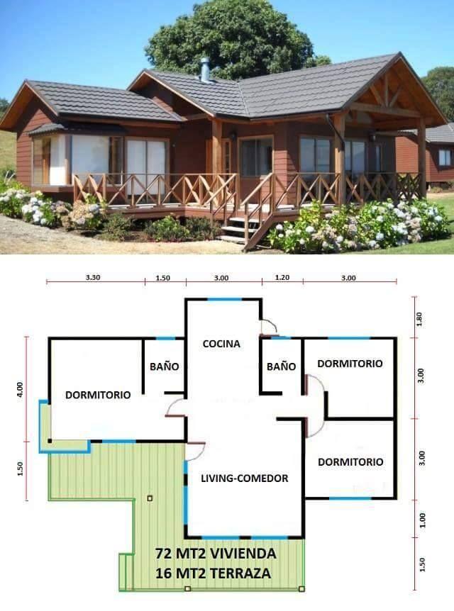 Pin de alexa uvidia en hogar pinterest casas planos y for Planos de casas de campo rusticas