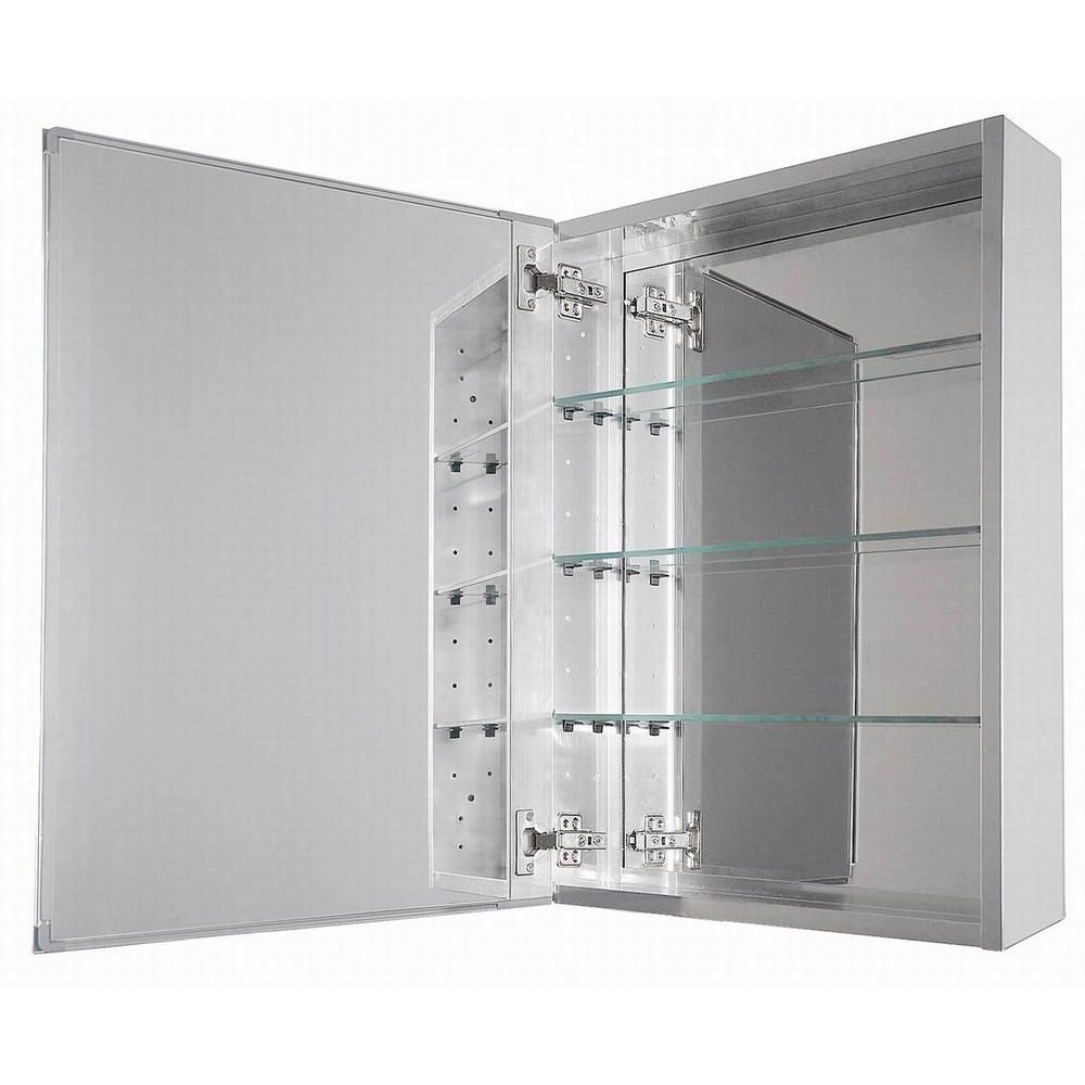 Glacier Bay 15 In X 26 In Decor Recessed Or Surface Mount Medicine Cabinet In Silver 44 Surface Mount Medicine Cabinet Medicine Cabinet Mirror Beveled Mirror