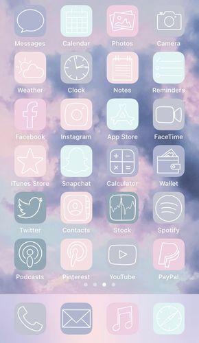 Aesthetic ios14 App Icons Pastel iPhone App Icons