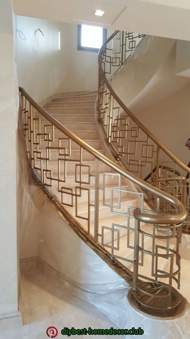 17 Must-See Staircase Railing Designs - Home Sable   Stairs Barrier Ideas Stair railings serve greater than a practical function– they provide staircases an aesthetic visibility and also make a stairs a masterpiece. Check out these step railing tips and locate motivation for bring in a.. #staircaserailings