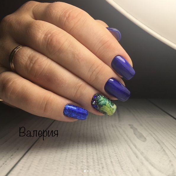 Beautiful blue gel nail art design made by nailmaster Valerija using ...