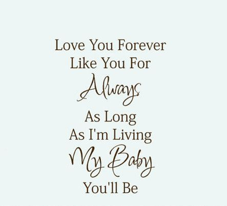 I Love You Forever I Like You For Always Quote Simple Baby Wall Decal Quote Vinyl Lettering Love Youhouseholdwords