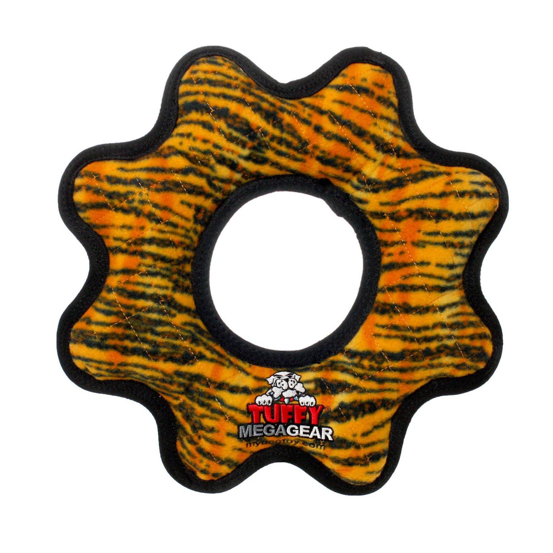 Tuffy Durable Dog Toy Mega Gear Ring - T-MG-GR-BR