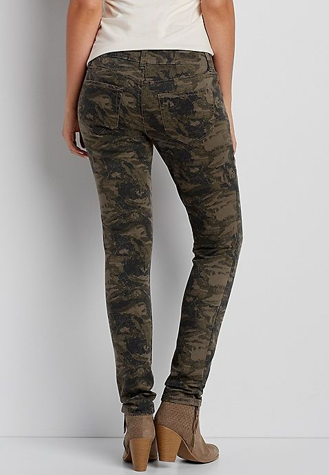 e845f76d35d4a DenimFlex™ jegging in olive green camo print | Clothes | Camo print ...