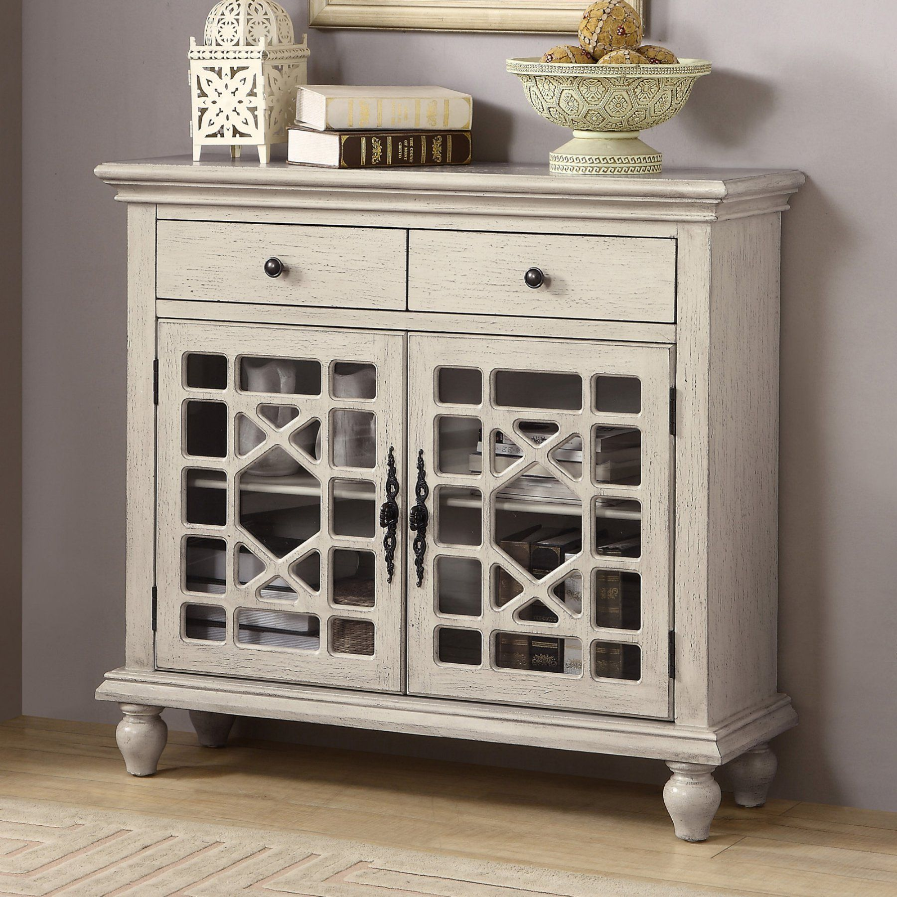 Coast To Coast 2 Drawer 2 Door Cabinet Glass Cabinet Doors Accent Cabinet Accent Doors Coast to coast cabinets