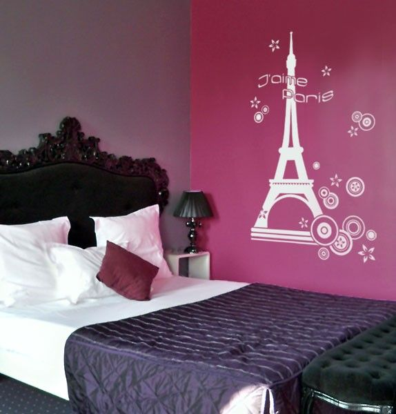 Love The Wall For A Paris Themed Bedroom For A Teenage