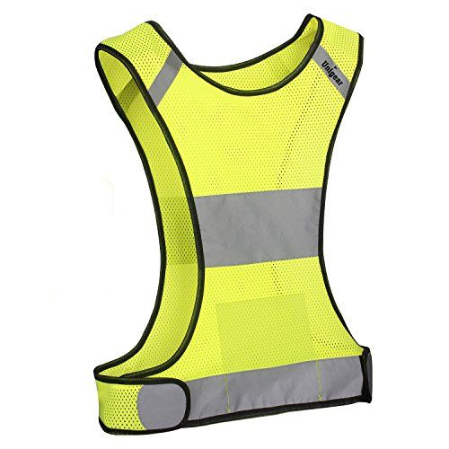 reflective safety vest high visibility safety gear for running cycling jogging biking. Black Bedroom Furniture Sets. Home Design Ideas