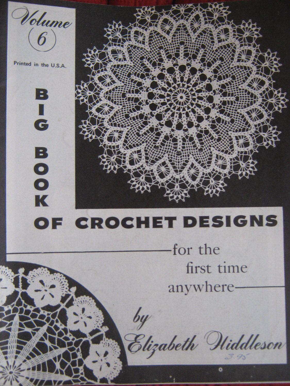 Vintage 1960s Original Elizabeth Hiddleson Volume # 6 Crochet Doily ...