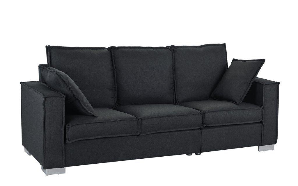 Dali Modern Linen Fabric Sofa Black Sofa Living Room Fabric