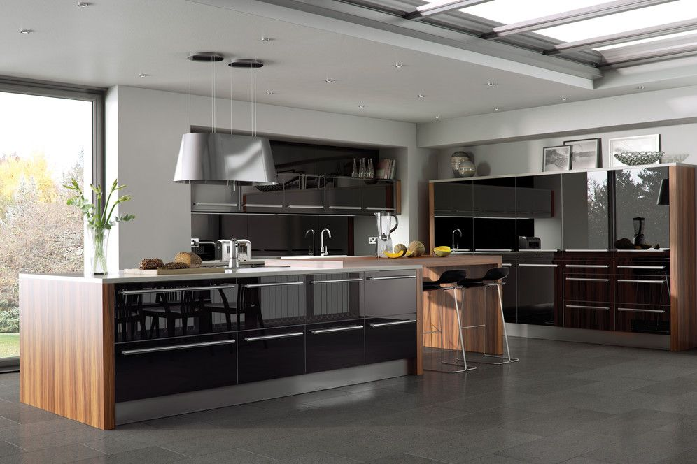 13 amazing kitchens with black appliances include how to decorate guide gloss kitchen work - Stylishly modern kitchen islands additional work surface ...