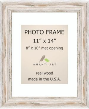 Amanti Art Alexandria Whitewash 11 X 14 Matted 8 X 10 Opening Wall Photo Frame Small Photo Frames Frame Art Pictures