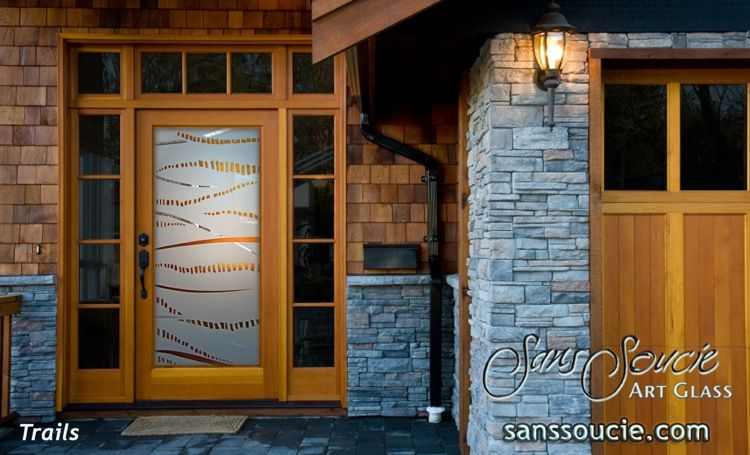 Trails 3d In Color Glass Entry Doors Glass Entry Doors Pinterest