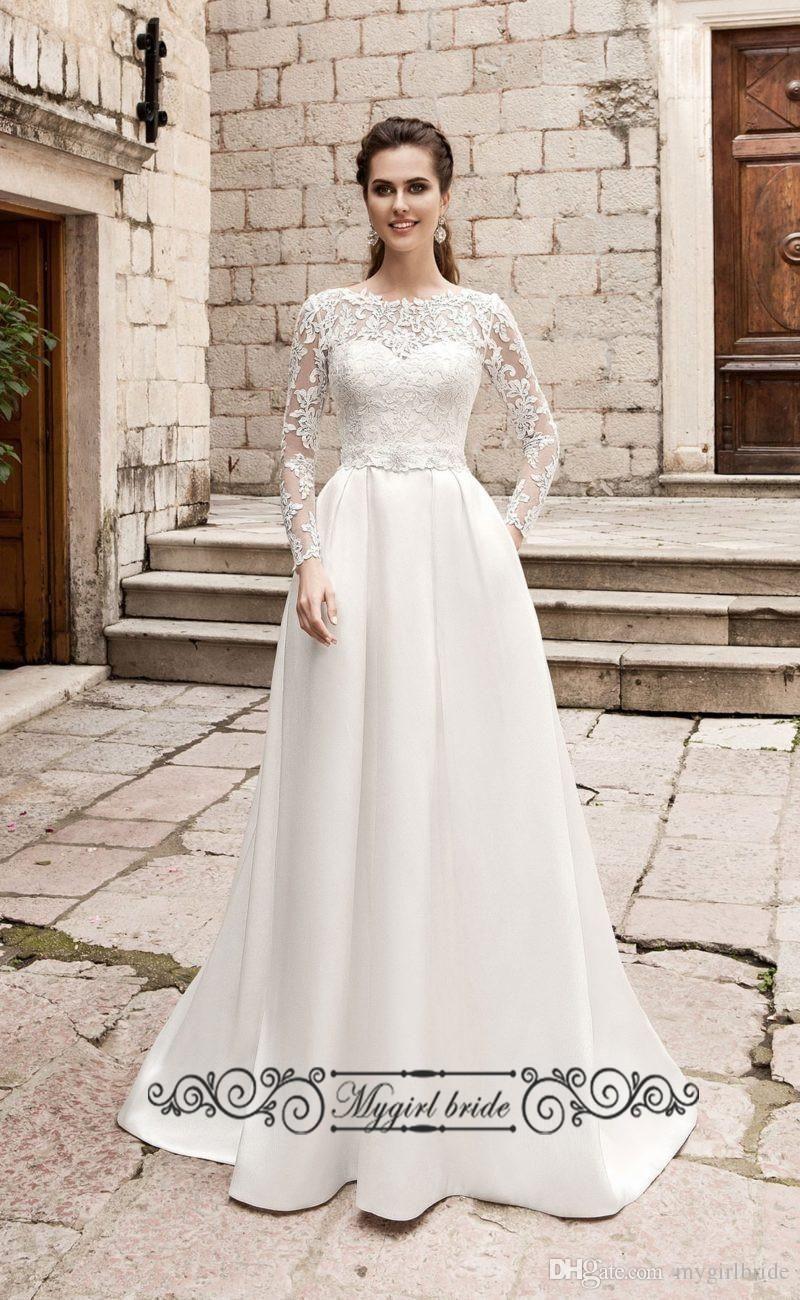 Pockets Backless Wedding Dress