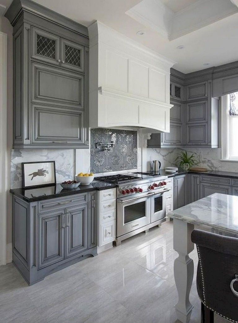 63 marvelous modern farmhouse kitchen cabinet and countertops ideas grey kitchen cabinets on farmhouse kitchen decor countertop id=15350