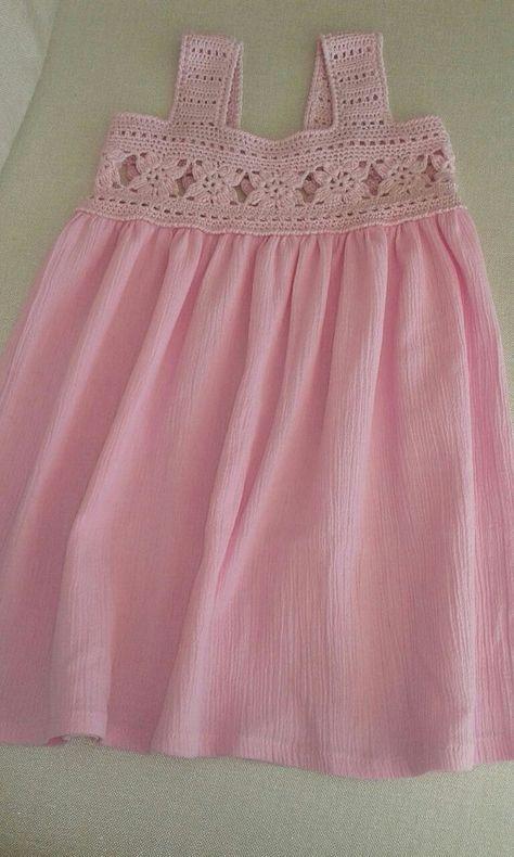 Crochet verano y Sile algodón, tela de algodón orgánico para las muchachas de flor