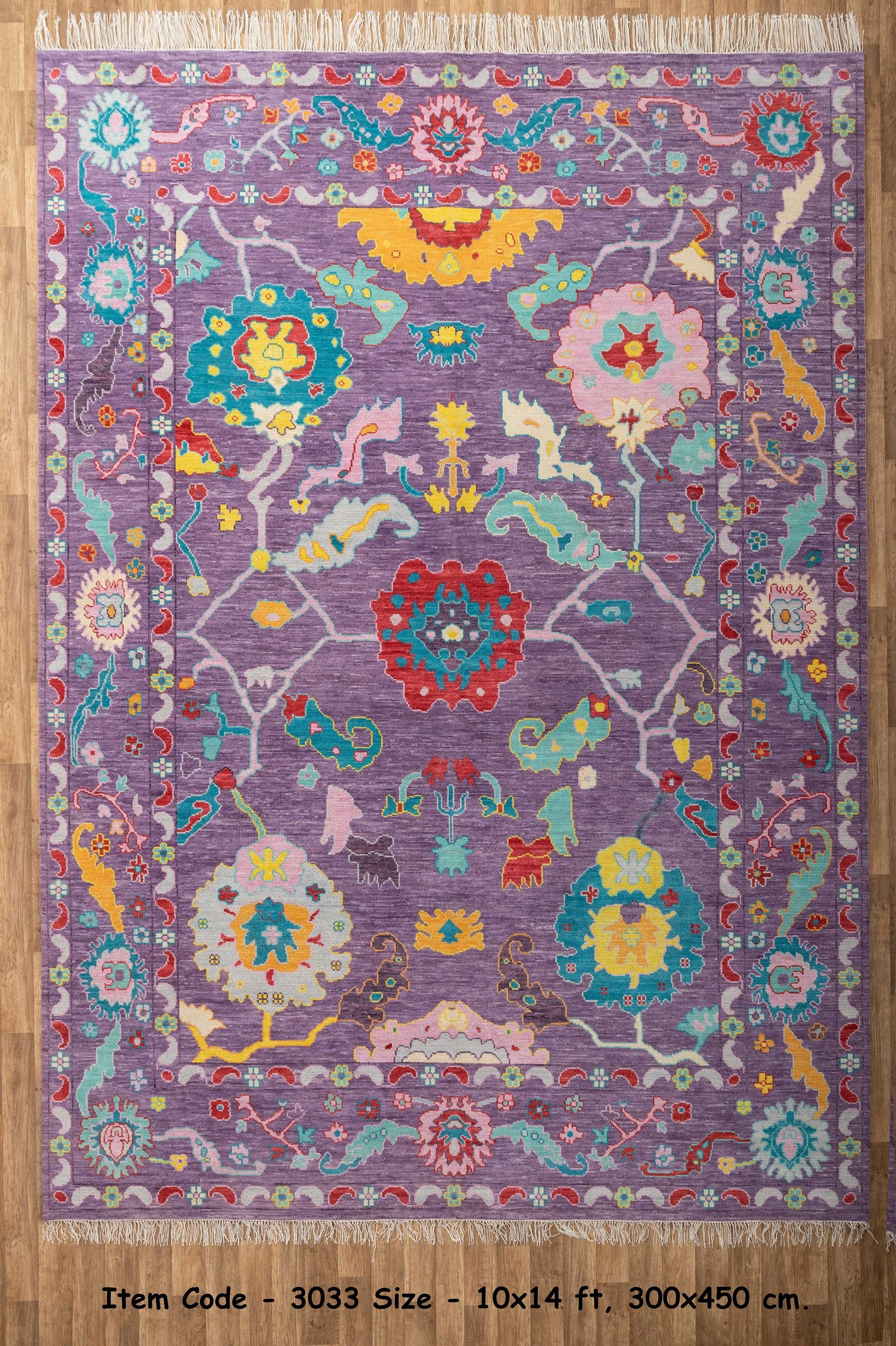 10 X14 Modern Vivid Wool Hand Knotted Oushak Free Shipping Hand Knotted Silk Rug Oushak