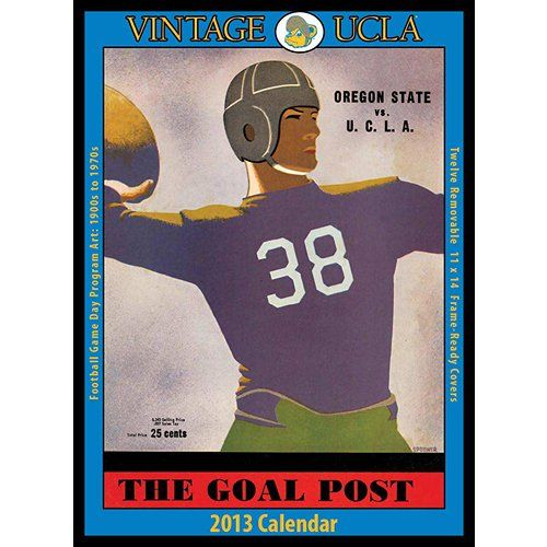 Ucla Calendar.Vintage Ucla Football 2013 Wall Calendar Sketch Football
