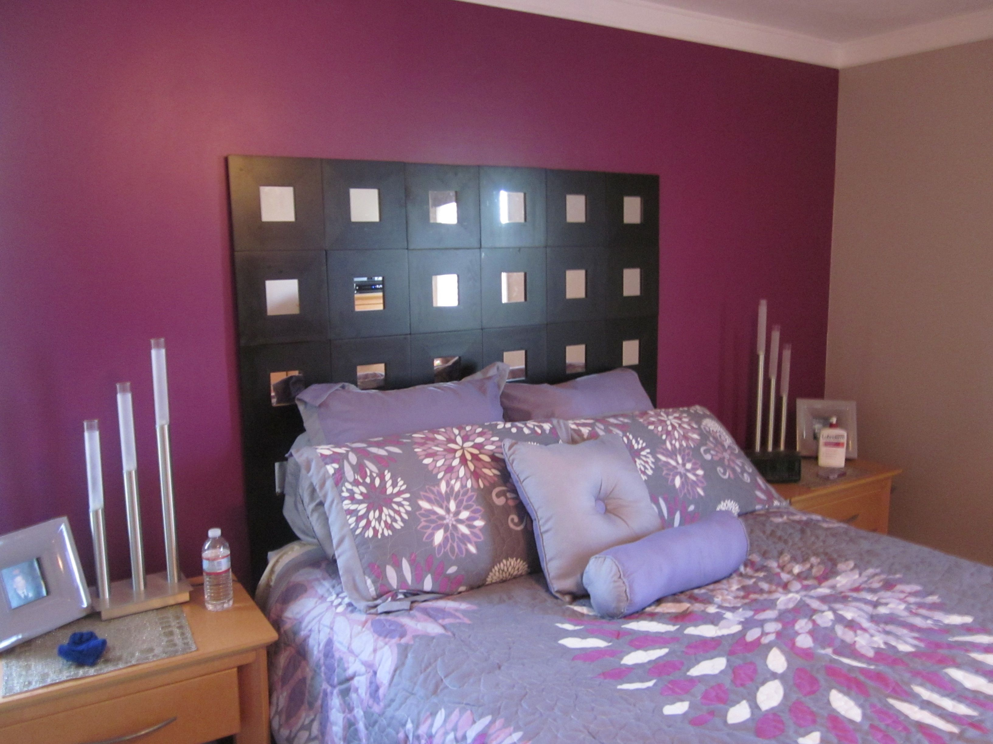 DIY mirror headboard I think it would be cool as picture frames